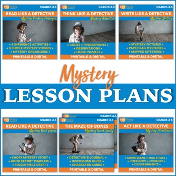 Mystery Lesson Plans for a 5-Week Genre Study - Fourth and Fifth Grades