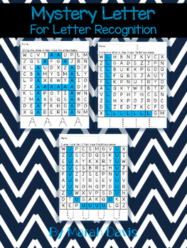 Mystery Letter - Letter Recognition for Little Learners