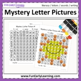 Mystery Letter Pictures - Letter Identification & Sounds Activity