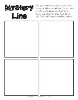 Mystery Line Creativity Activity