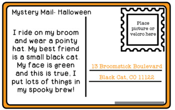 Mystery Mail - An early inferencing activity - Halloween Edition