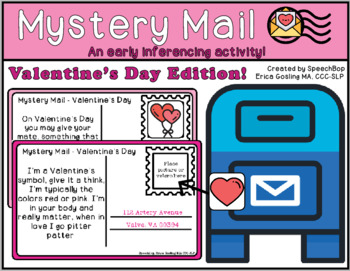 Mystery Mail - An early inferencing activity - Valentine's Day Edition!