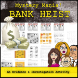 Mystery Mania - Bank Heist (Evidence and Investigation Review Game)