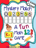 Freebie Kindergarten Math Game ~ Mystery Match