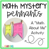 """Mystery Math: A """"Math About Me"""" Pennant"""
