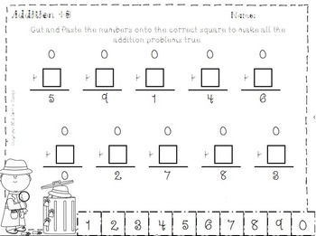 Mystery Math Boxes Addition Subtraction