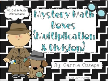Mystery Math Boxes Multiplication & Division
