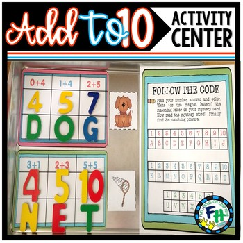 Mystery Math Center Activity: Addition to 10