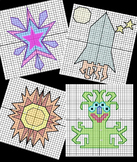 Mystery Math Coordinate Grids - Four Quadrant Space Theme