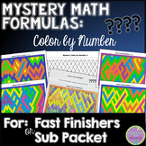Mystery Math Formulas Color by Number
