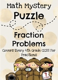 Mystery Math Fraction Riddles