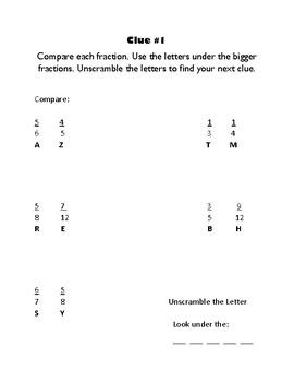 Mystery Math Fraction Activity