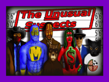 Mystery Math Game - The Unusual Suspects 4th Grade