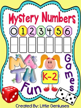 Mystery Math Games for Kindergarten and Grade One