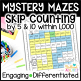 Mystery Math Mazes: Skip Counting within 1,000 DIFFERENTIATED