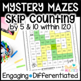 Mystery Math Mazes: Skip Counting with 120 DIFFERENTIATED