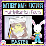 Mystery Math Pictures Easter Multiplication Facts (Color b