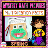 Mystery Math Pictures Spring Multiplication Facts (Color b