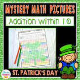 Mystery Math Pictures St. Patrick's Day Addition within 10