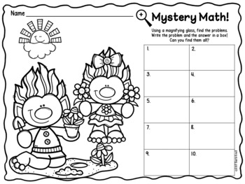 Mystery Math: Spring Addition and Subtraction