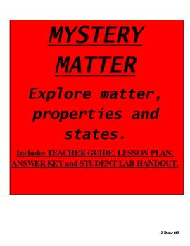 Mystery Matter Lab: Introduction to Chemistry in Physical Science
