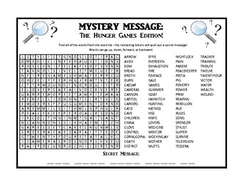 Mystery Message - The Hunger Games