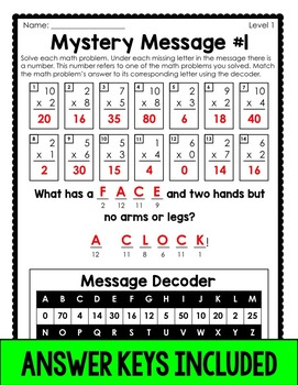 Mystery Messages Freebie