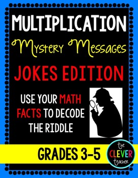 Mystery Messages Jokes - Multiplication Facts