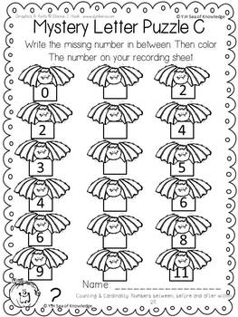 Number Order Mystery Messages Math for K {Halloween Edition}
