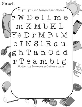 Mystery Messages decode by highlighting uppercase lowercase letters SPED