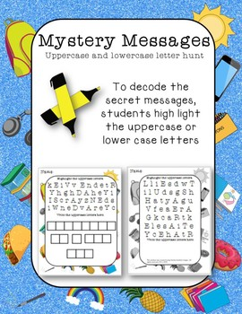 Mystery Messages decode by highlighting upper lower case letters