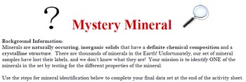 Mystery Mineral Activity