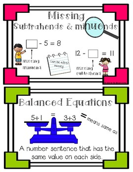 Mystery Missing Addends and Balance Equations