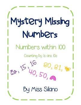 Mystery Missing Number Worksheets (Within 100)