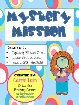 Mystery Misson - Icebreaker/Multi-purpose Activity