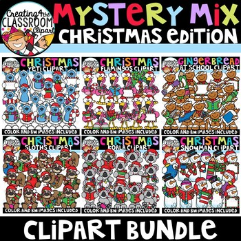 Mystery Mix Christmas Clipart Bundle {Christmas Clipart}