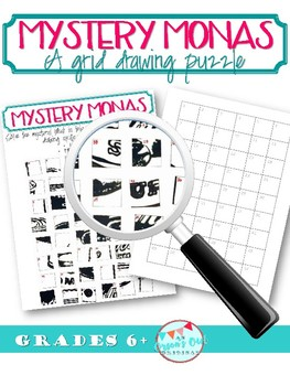 Mystery Mona's: Grid Drawing game
