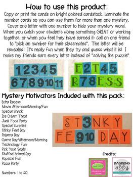 Mystery Motivator! {A Classroom Behavior Management Strategy}