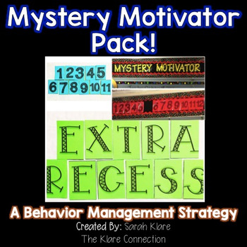 Mystery Motivator! {A Behavior Management Strategy}