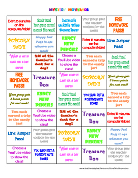 Mystery Motivator Behavior Incentive Board - Version 2!