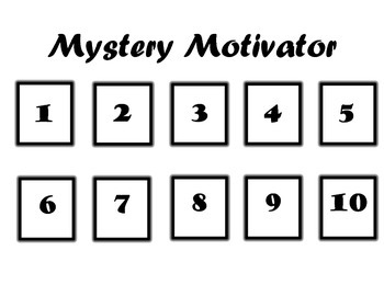 Mystery Motivator Behavior Modification Plan activity sheets (levels 1-4)