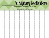 Mystery Motivators - Weekly Behavior Strips