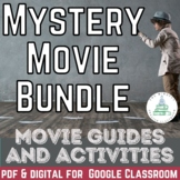 Mystery Movie Viewing Guide Bundle- Questions and Graphic Organizers.