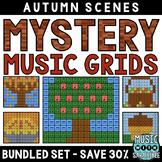 Mystery Music Grids- Autumn Scenes (BUNDLED SET- SAVE 30%)