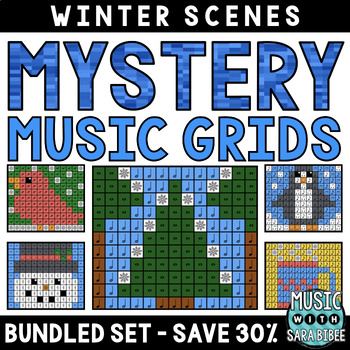 Mystery Music Grids- Winter Scenes (BUNDLED SET- SAVE 30%)