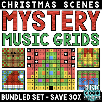 Mystery Music Grids- Christmas Scenes (BUNDLED SET- SAVE 40%)