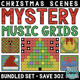 Mystery Music Grids- Christmas Scenes (BUNDLED SET- SAVE 30%)
