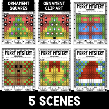 Mystery Music Grids- Christmas Scenes (Dynamics)