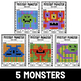 Mystery Music Grids- Monsters (Whole/Half/Quarter Rest Values)