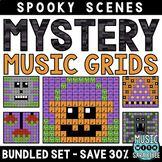 Mystery Music Grids- Spooky Scenes (BUNDLED SET- SAVE 30%)